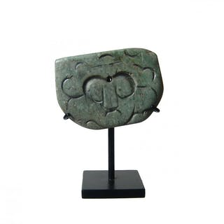 A pleasing Mixtec greenstone pendant, Mexico