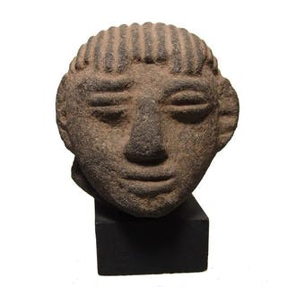 Costa Rican stone head of a man, Atlantic Watershed
