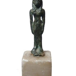 Egyptian bronze figurine of a goddess, Late Period