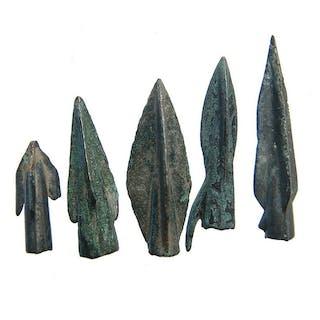 A group of Greek bronze arrowheads