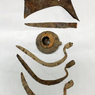 A collection of late antiquity - Medieval iron blades