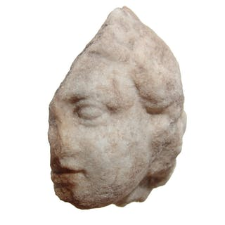 A Greek marble head fragment of a youth