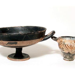 A pair of Greek ceramic vessels