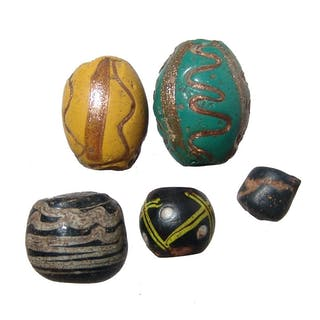 A lot of 5 Islamic period beads