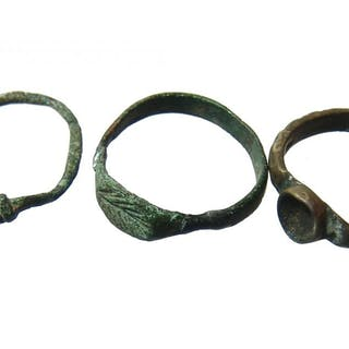A lot of ancient - Medieval bronze rings