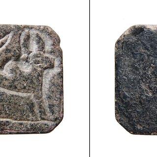 A Western Asiatic steatite rectangular seal