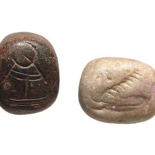 A pair of Near Eastern stone stamp seals
