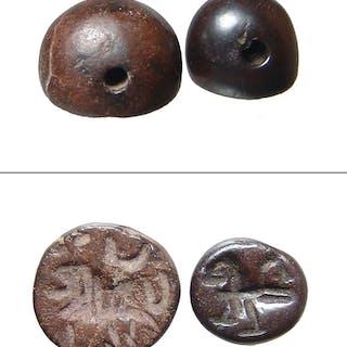 A pair of Sasanian stamp seals