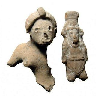 A pair of Pre-Columbian ceramic figures