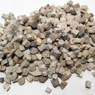 A large lot of Hellenistic stone tesserae for a mosaic