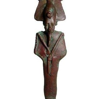 A nice Egyptian bronze figure of Osiris, Late Period