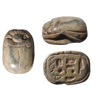 An Egyptian steatite scarab of Amenhotep I