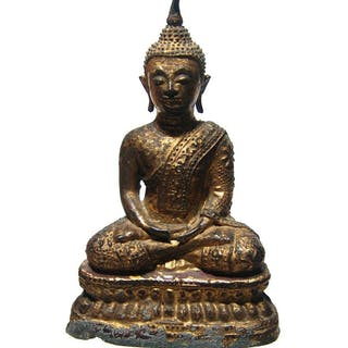 A nice gilded bronze figure of Buddha