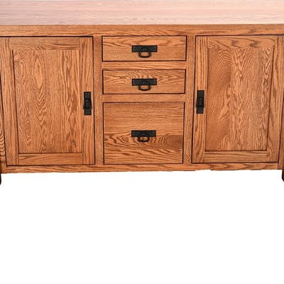 Arts and Crafts Style Oak Sideboard