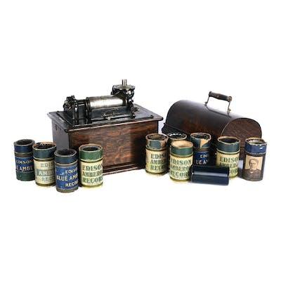 Edison Standard Phonograph with 10 Rolls
