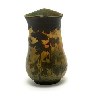 Art Glass Muller FrËres Style Cameo Glass Vase.