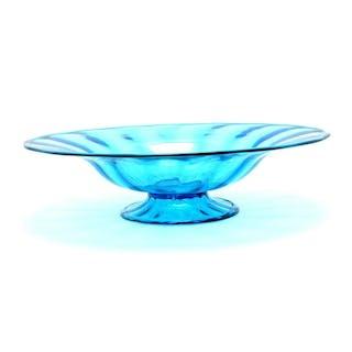 Steuben Carder Celeste Blue Glass Bowl.