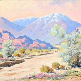 "Amy Difley Brown ""Desert Floor"" oil on board"