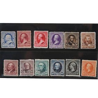 US 1890-93 Scott #219-229 Complete Set Mint Lightly
