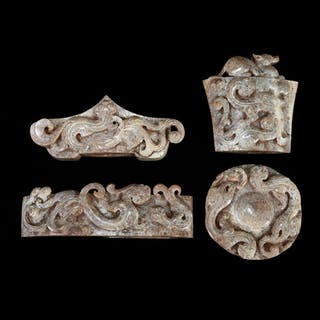 Chinese Carved Jade Sword Embellishment