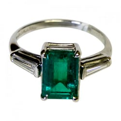 Money personal finance news advice information 2 carat colombian emerald diamond ring in platinum fandeluxe Choice Image