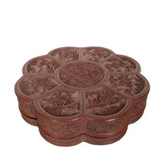 CHINESE CINNABAR BOX