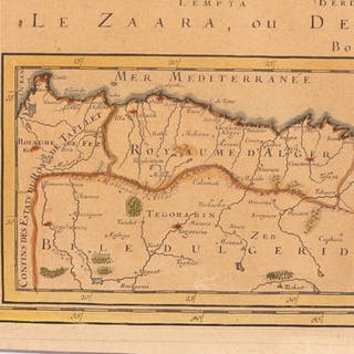 Map Of Upper Asia.French 1689 Map Of Europe Asia Africa Current Sales Barnebys Com