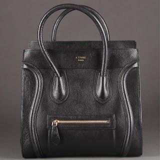 Celine, mini luggage handbag.