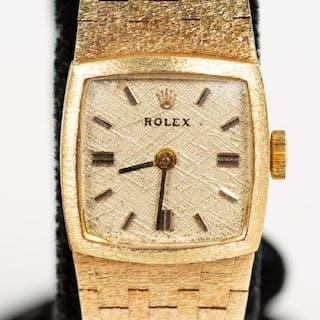 Ladies 14k Yellow Gold Rolex Wrist Watch