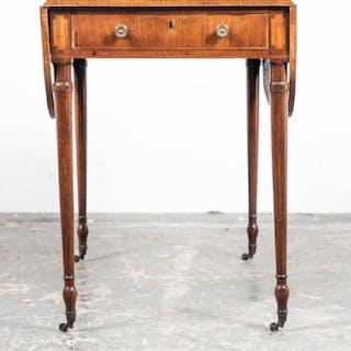 19th C. English Sheraton Inlaid Pembroke Table