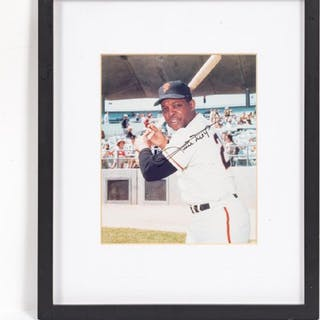 Framed Willie Mays Autographed Photograph