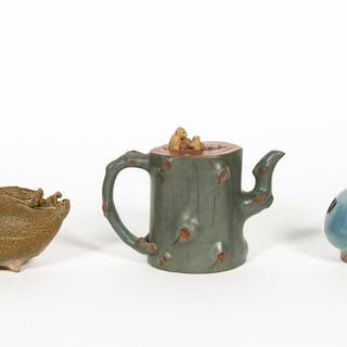Group, Three Chinese Teapots