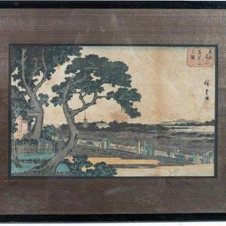 Hiroshige Matsuchiyma Mt. Japanese Woodblock Print