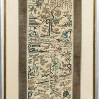 Handwoven Chinese Figural Embroidery Panel