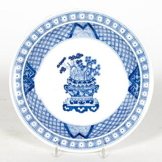 Japanese Arita Round Blue & White Porcelain Plate