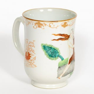 Chinese Export Large Porcelain Mug, Orpheus