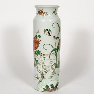 Chinese Porcelain Famille Rose Sleeve Vase