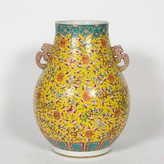 Chinese Porcelain Famille Jaune Vase