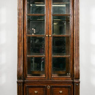 Marge Carson Large Mahogany Display Cabinet