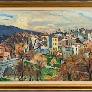 "Robert Mendoze ""Sainte - Anastasie"" 2001 Oil"