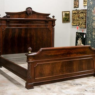 Polo Ralph Lauren King Size Mahogany Bed