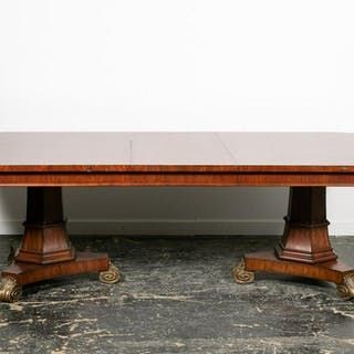 Maitland Smith Style Dining Table with Leaf