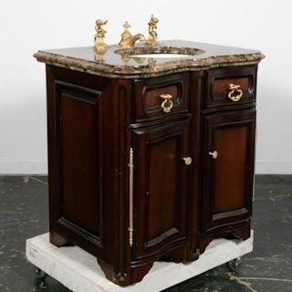 Sherle Wagner Vanity Cabinet with Cherub Basin Set