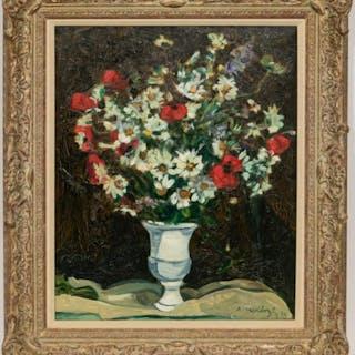 """Robert Mendoze """"Bouquet De Fleurs Des Champs"""" Oil"""