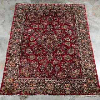 "Handwoven Sarouk Rug or Carpet, 8' 11"" x 11'10"""