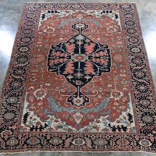"""Handwoven Persian Heriz Rug, 14' 8"""" x 9' 7"""""""