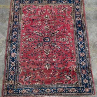 "Handwoven Sarouk Area Carpet 6' 9"" x 4' 4"""