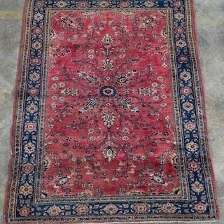 "Handwoven Sarouk Area Carpet 6' 9"" x 4' 4"""