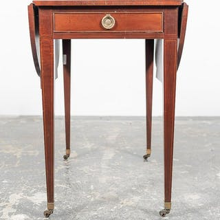 Baker Mahogany Inlaid Pembroke Table