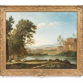School of Claude Lorraine Capriccio Oil Landscape